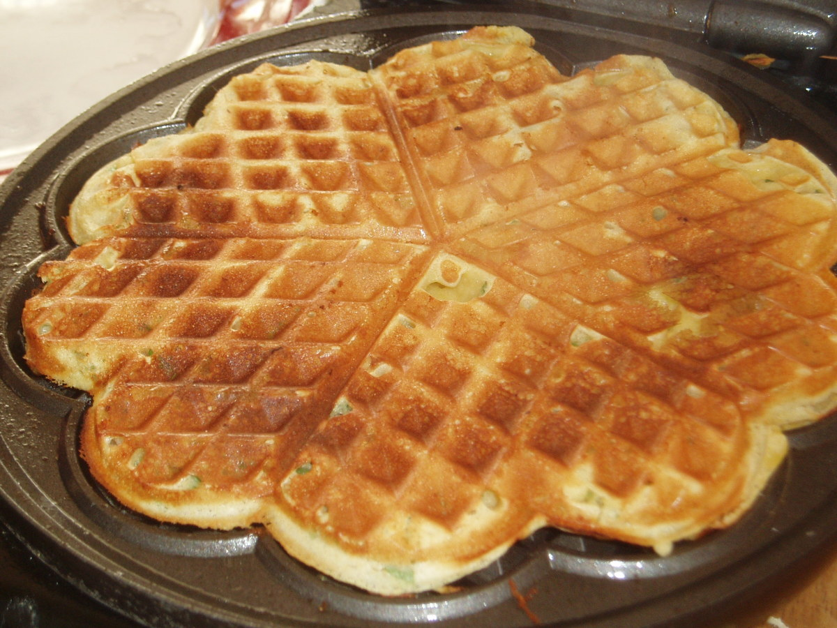 Golden Waffle Ready for its Topping