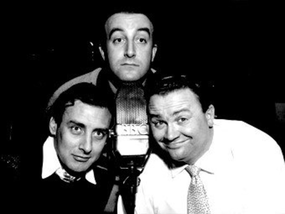 The Goons (left to right) Spike Milligan, Peter Sellars, and Harry Secombe.