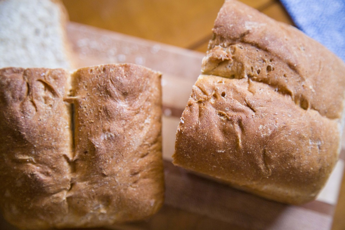 This great crust protects the moist bread inside.