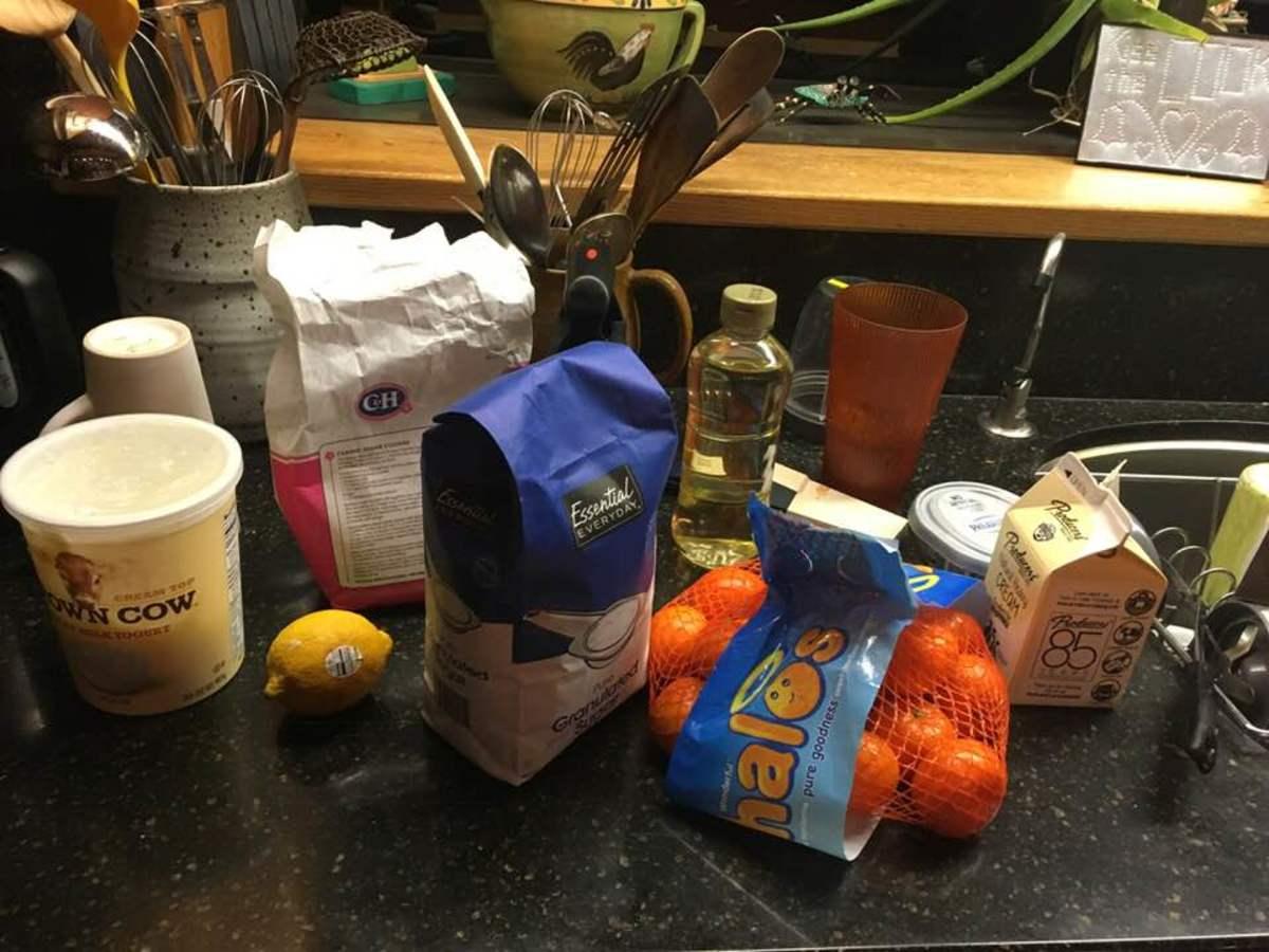 Ingredients for Mandarin Orange Frozen Yogurt