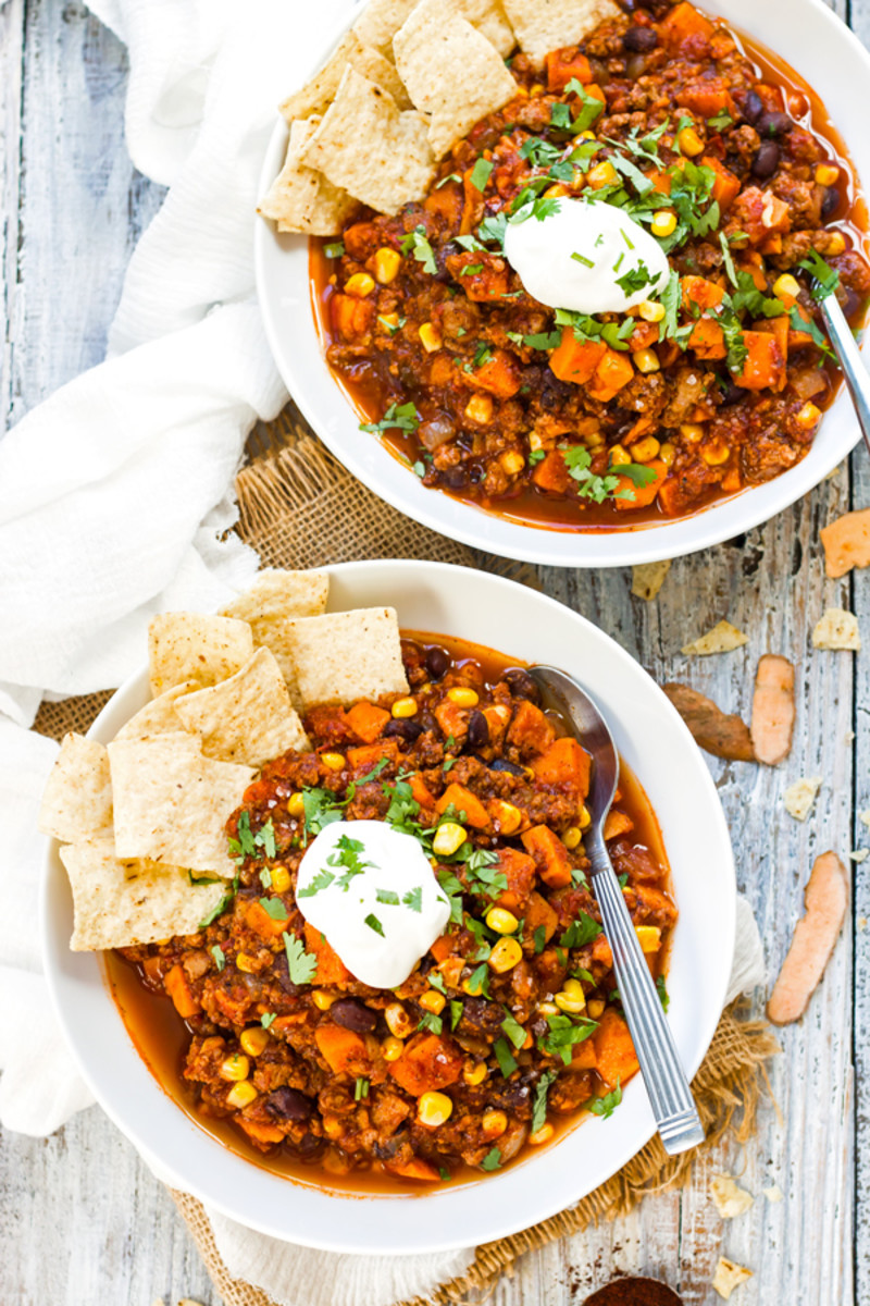 Healthy Sweet Potato Ground Turkey Chili