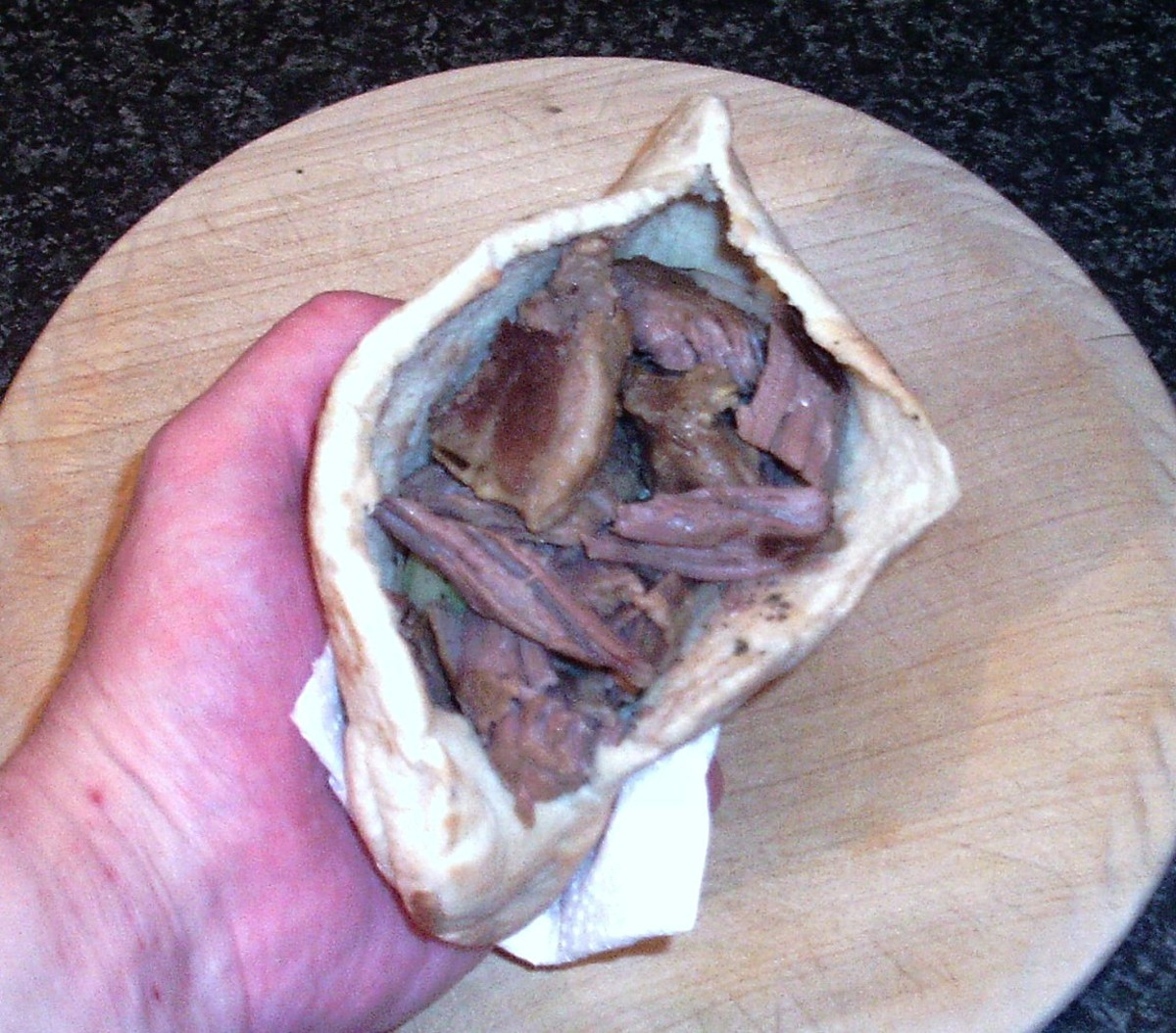 Lamb is added to pitta pocket