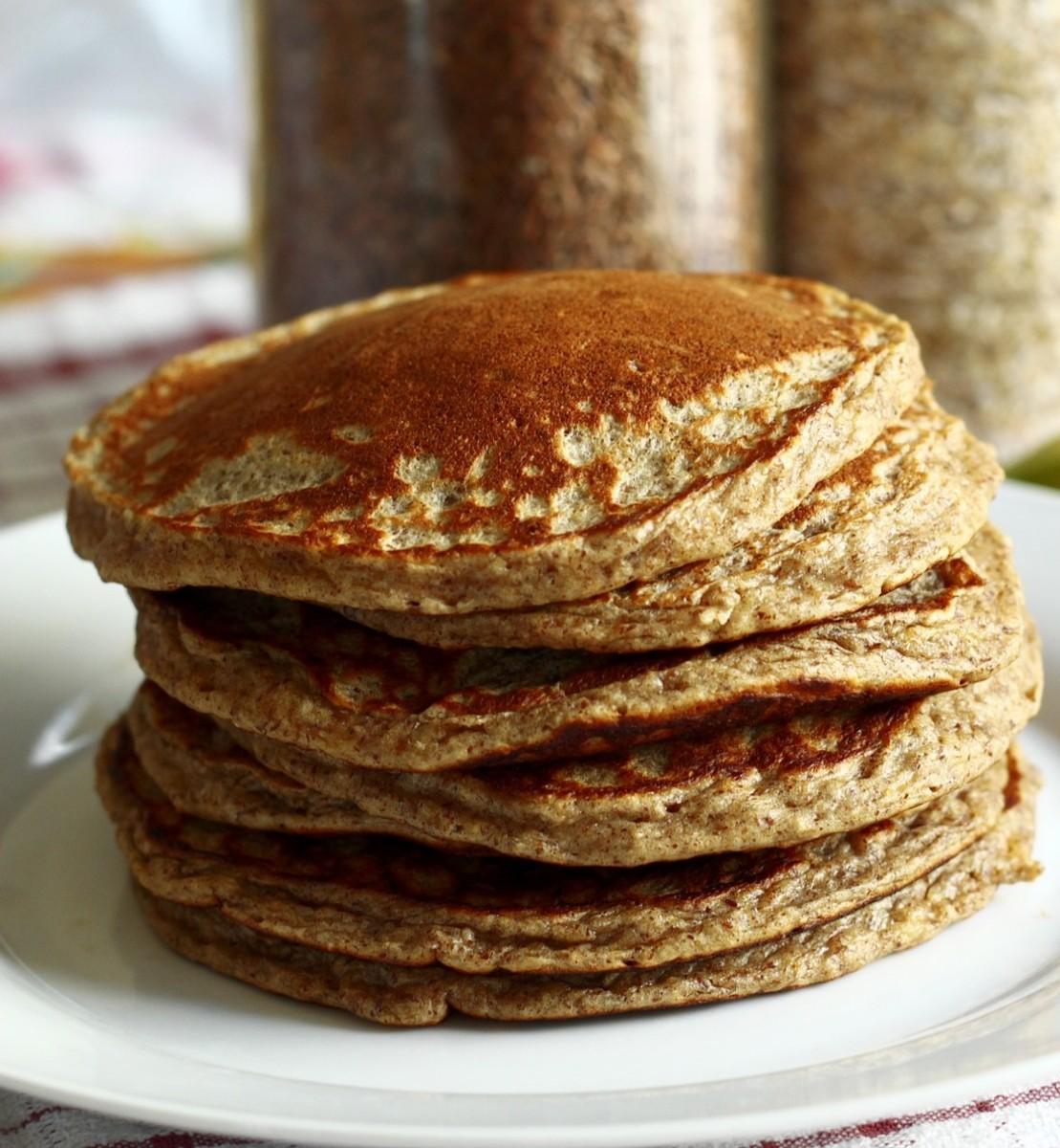 Carb Diva Oatmeal Pancakes