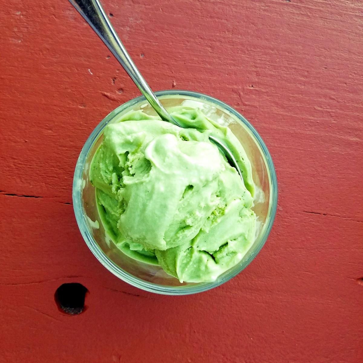 My homemade pistachio gelato