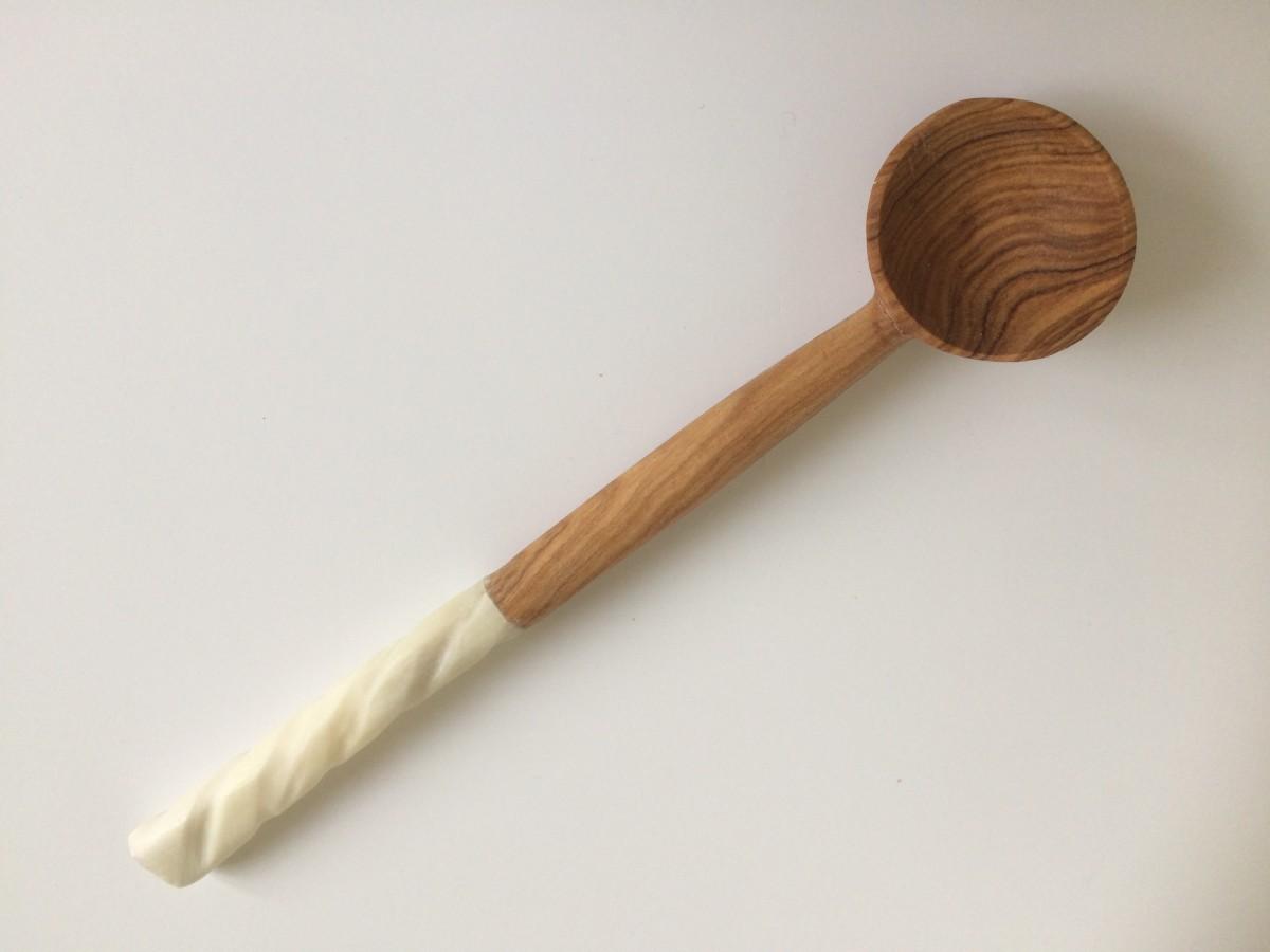 Olive wood coffee spoon from Kenya