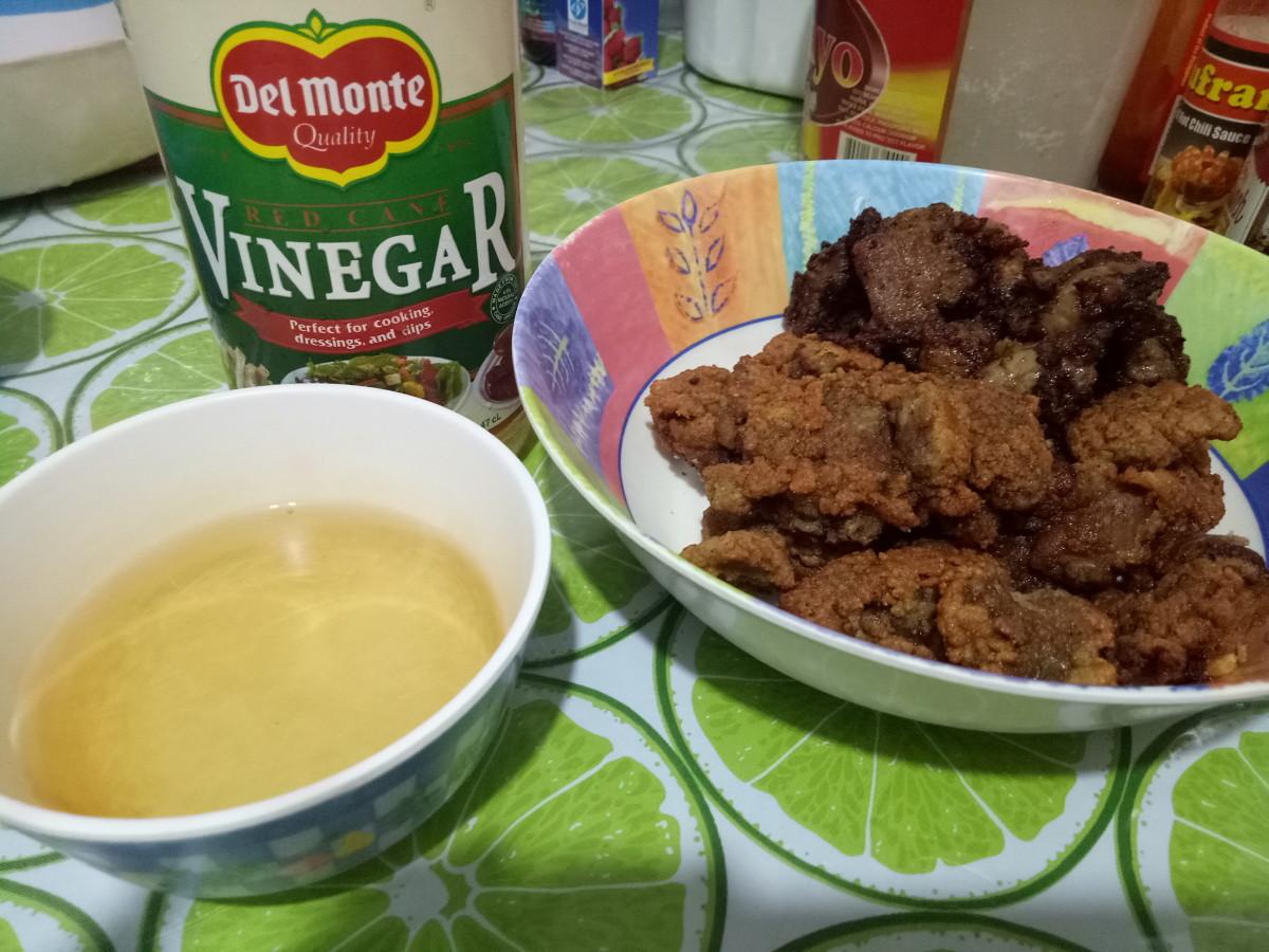 Breaded chicken liver