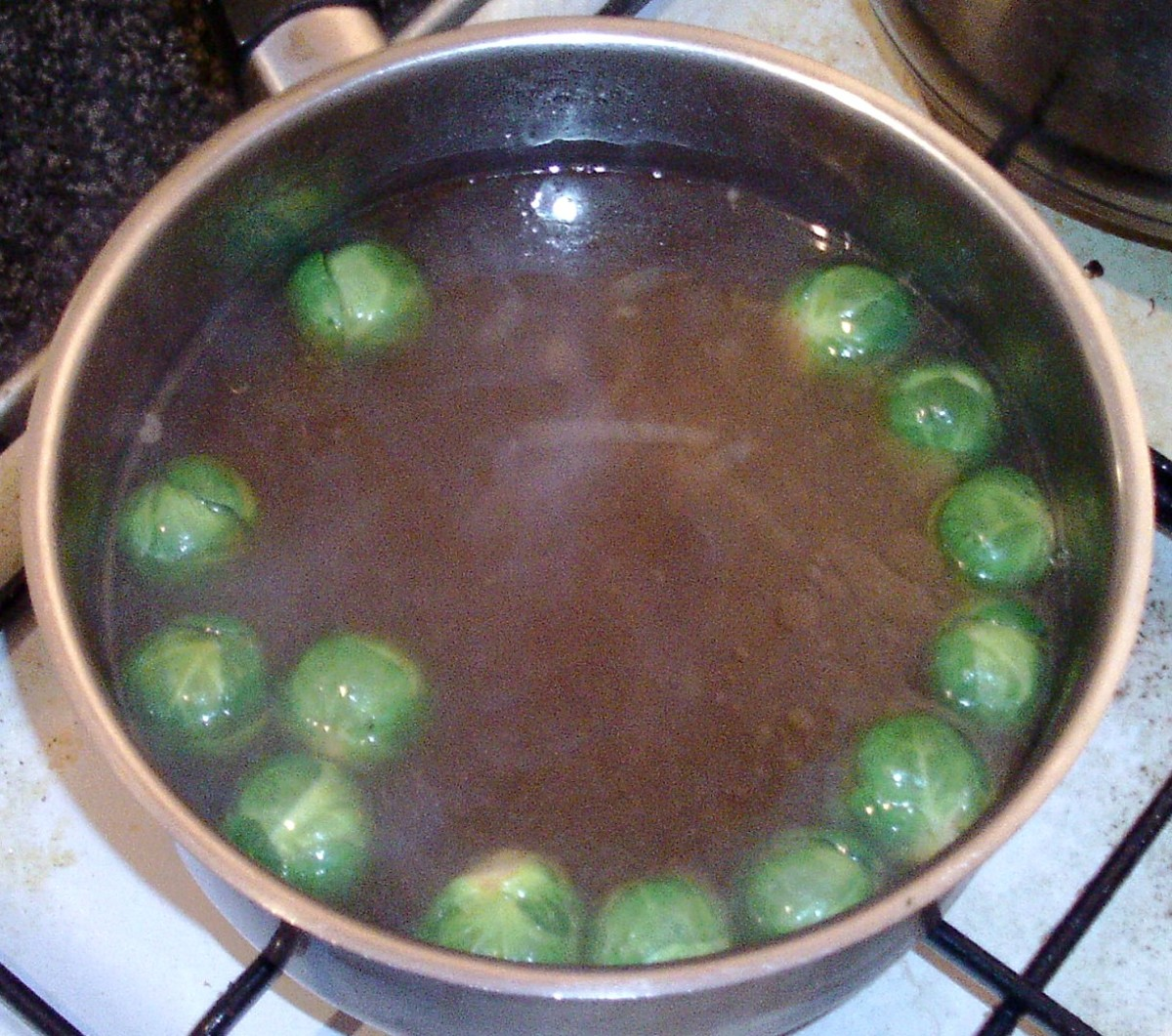Sprouts added to beef stock
