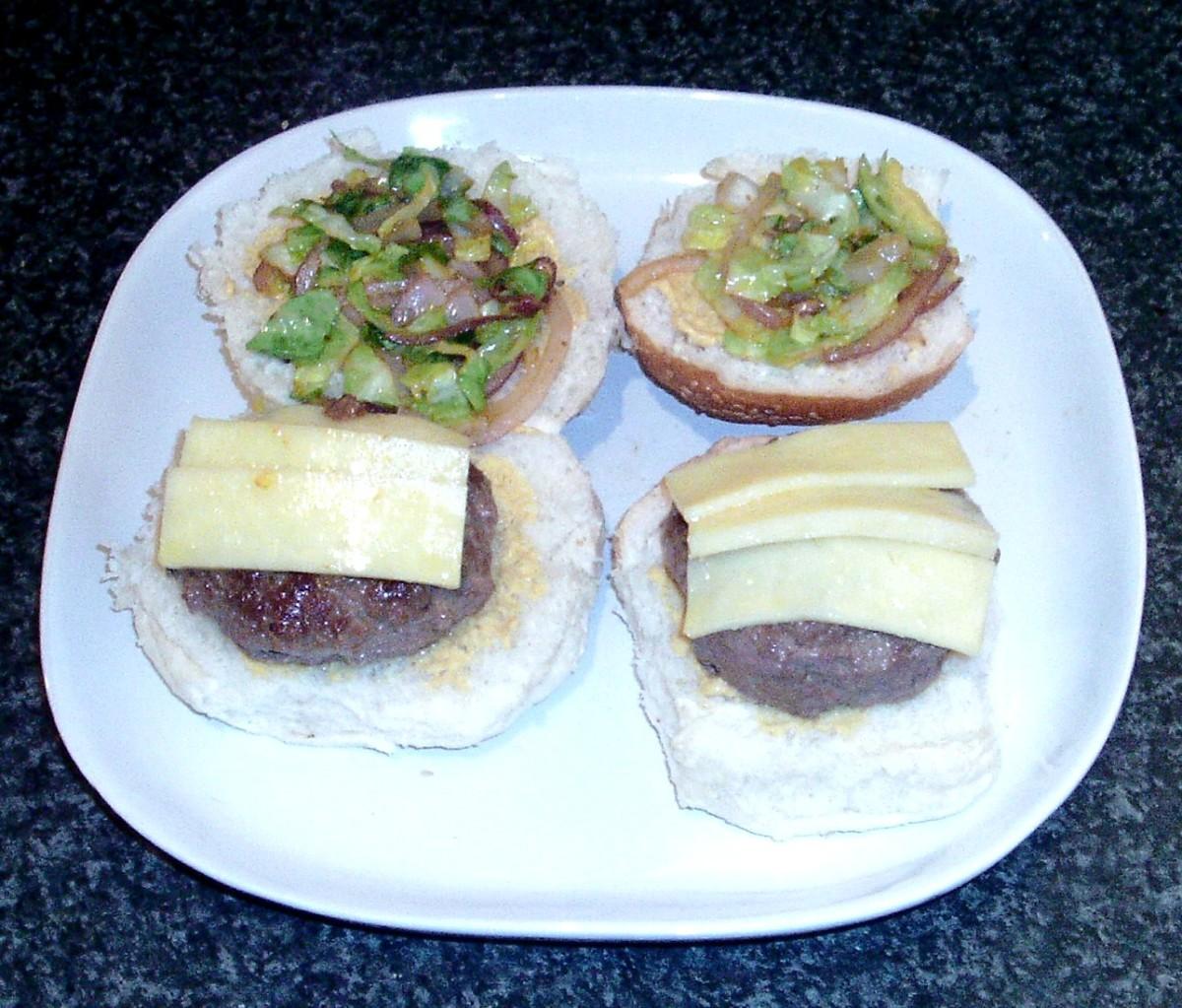 Assembled burgers