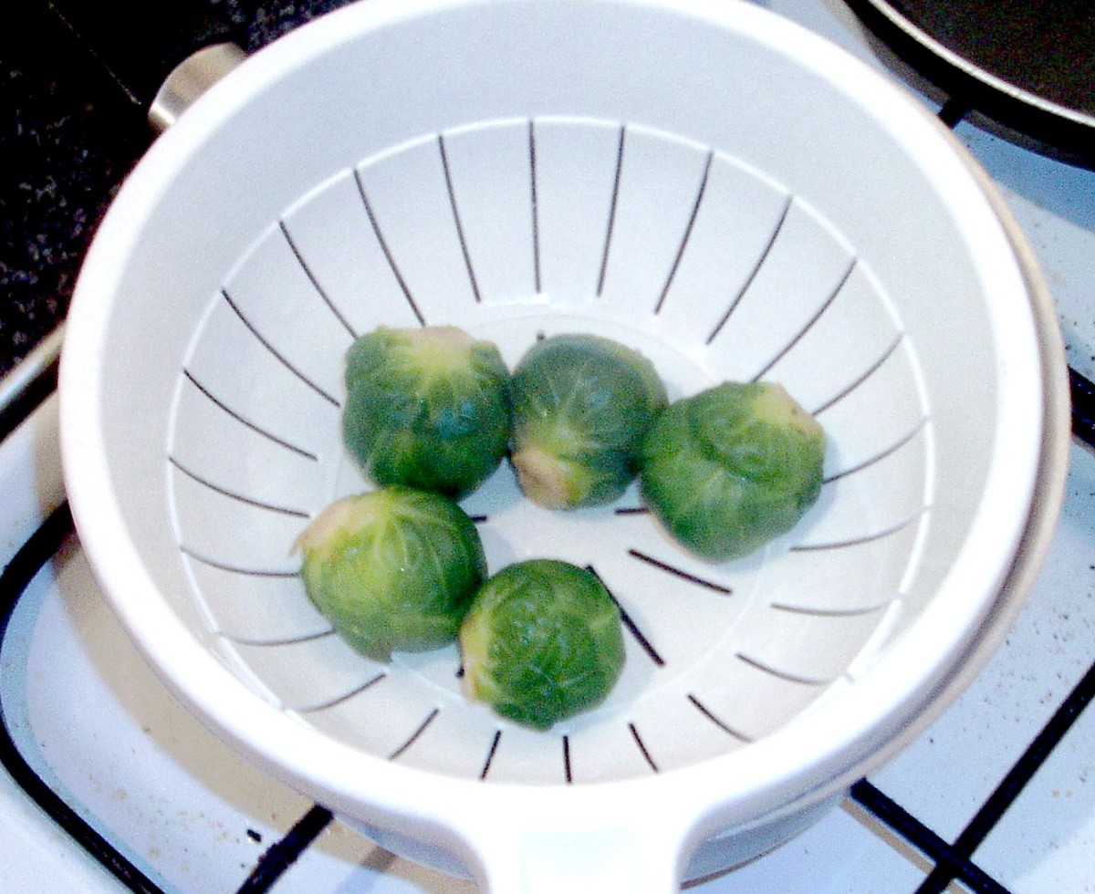 Parboiled Brussels sprouts