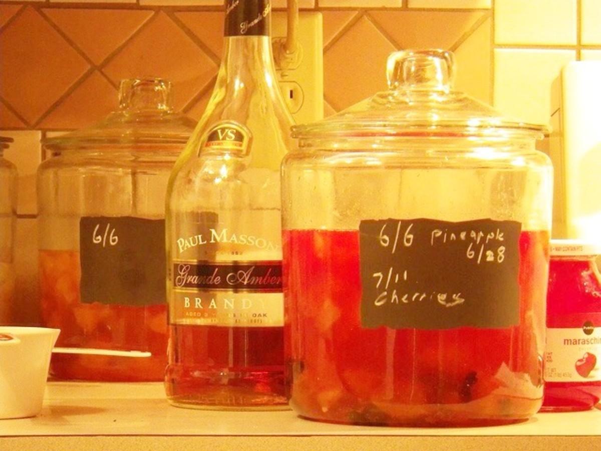 Brandied fermented fruit