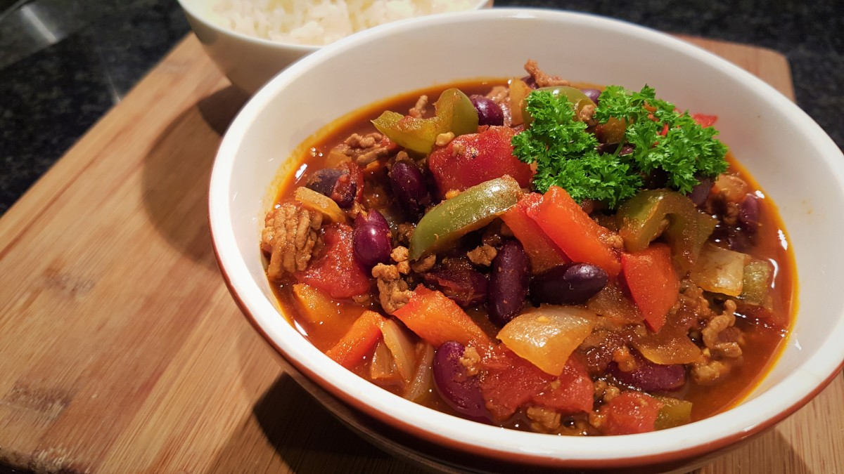 Finished slow-cooker chili