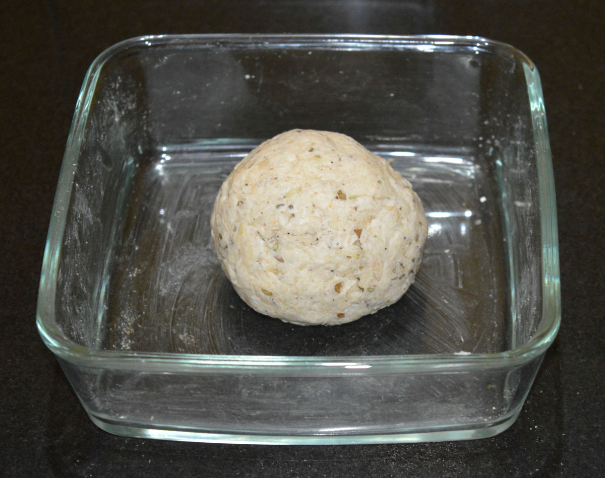 Step six: Knead together to get a smooth and firm dough. No need to add water while kneading.