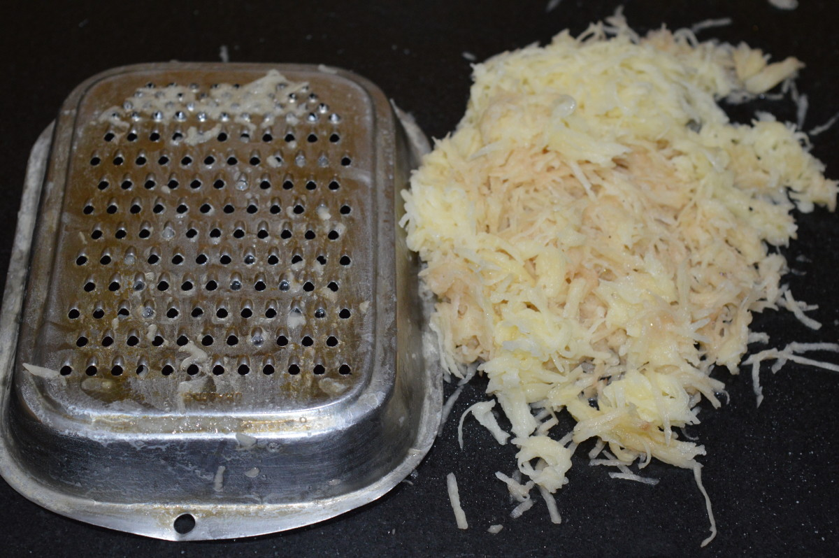 Step two: Grate them.