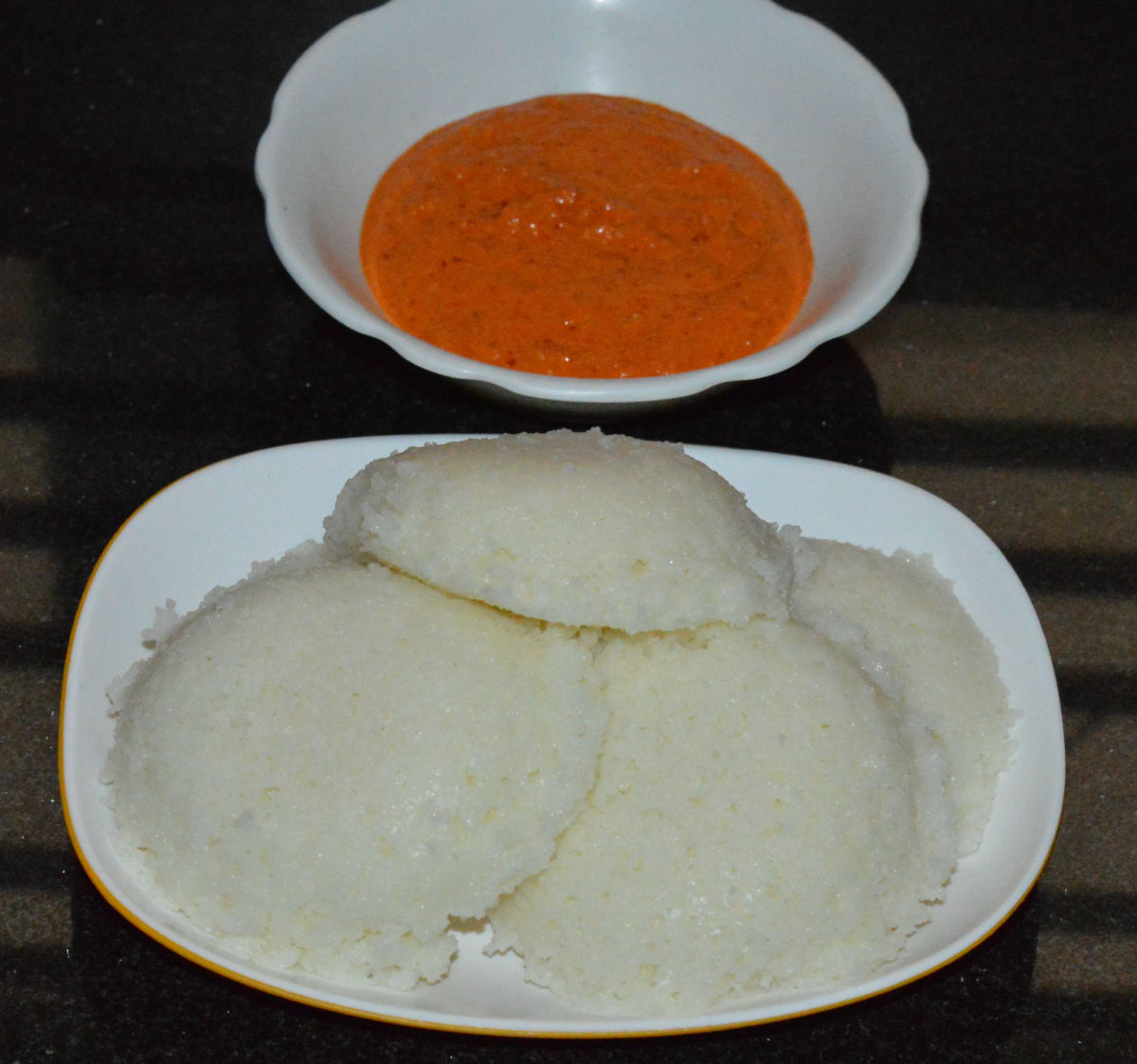 Enjoy eating these soft, spongy, and tasty idlis!