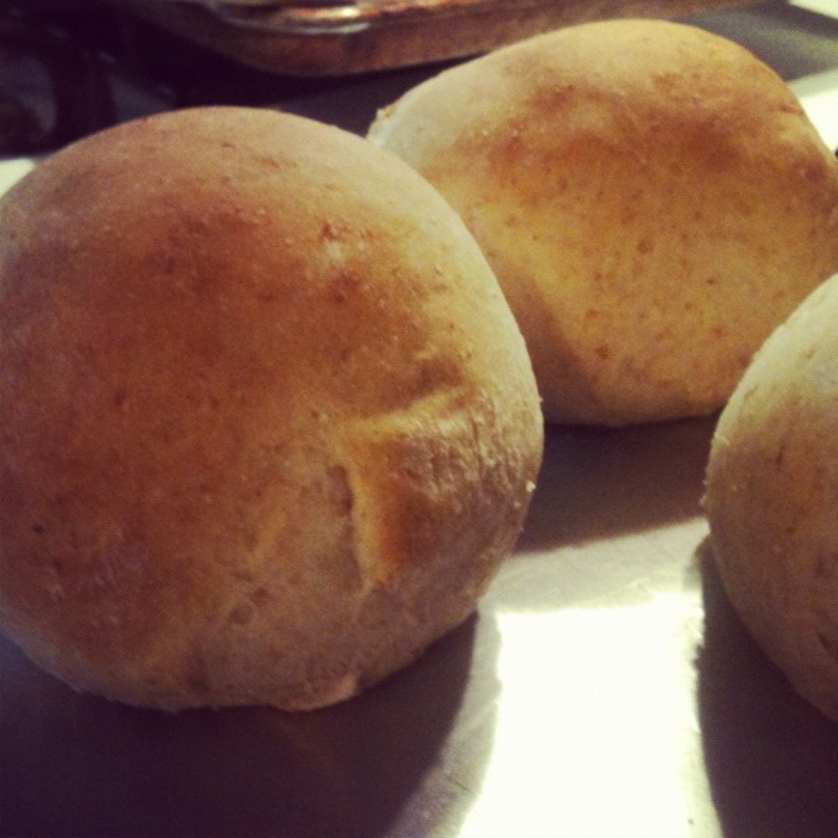 1/2 Wheat, Soft and Supple Burger Buns