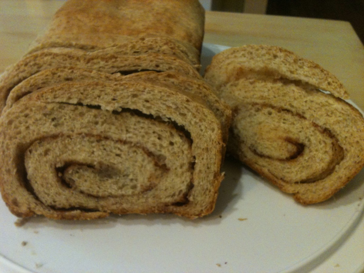 1/2 Wheat Cinnamon Swirl Bread