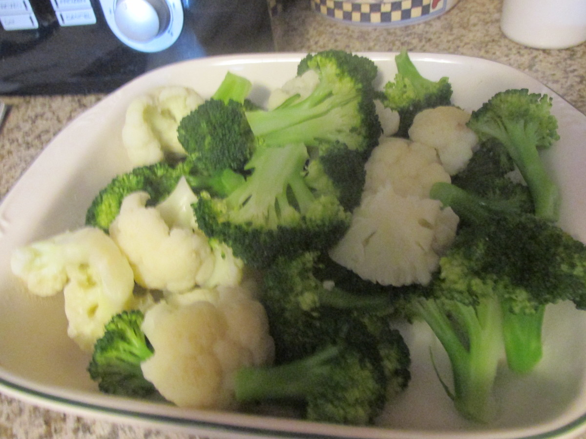 After the vegetables were parboiled.