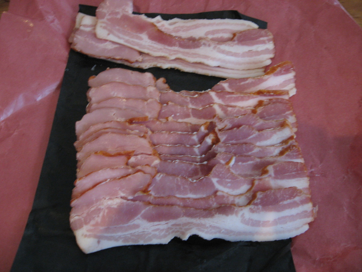 A flat of bacon.