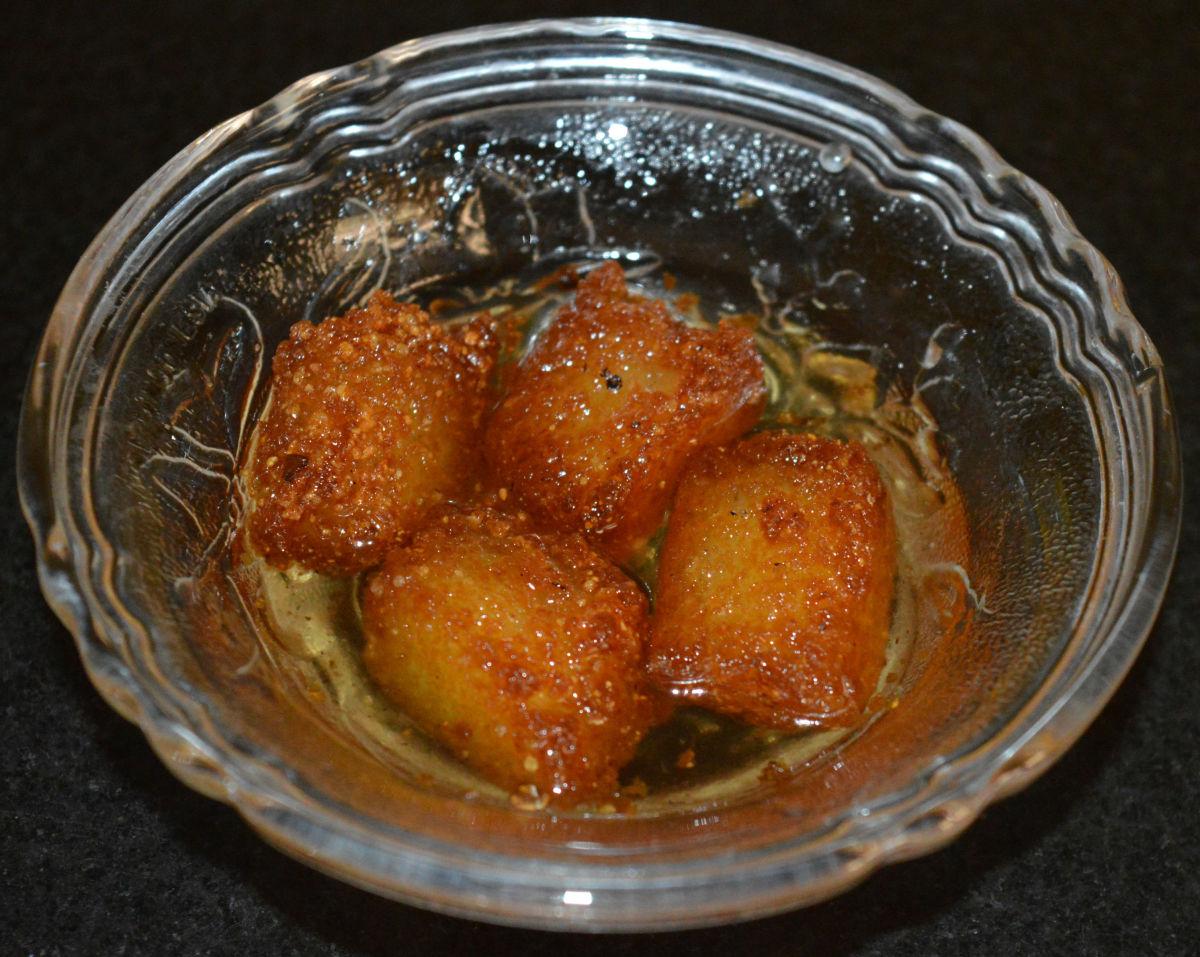 Idli dessert or idli jamuns