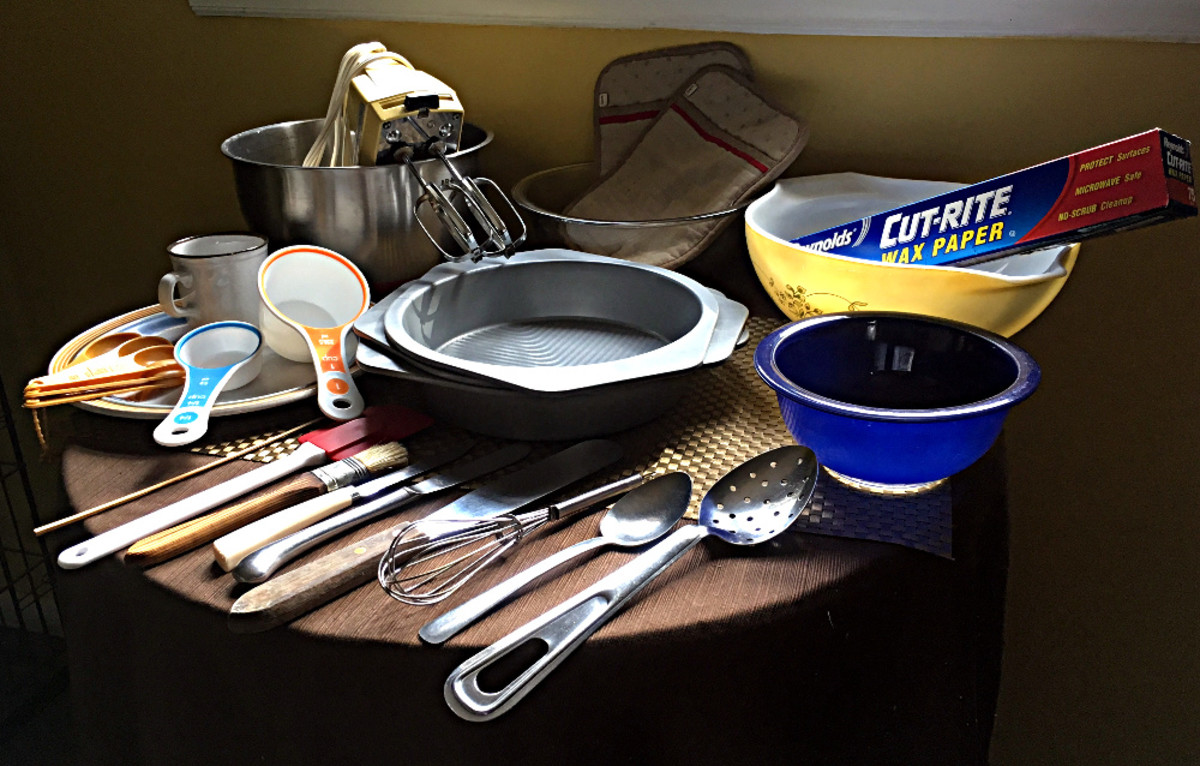 This is all of the cake-baking equipment you will need