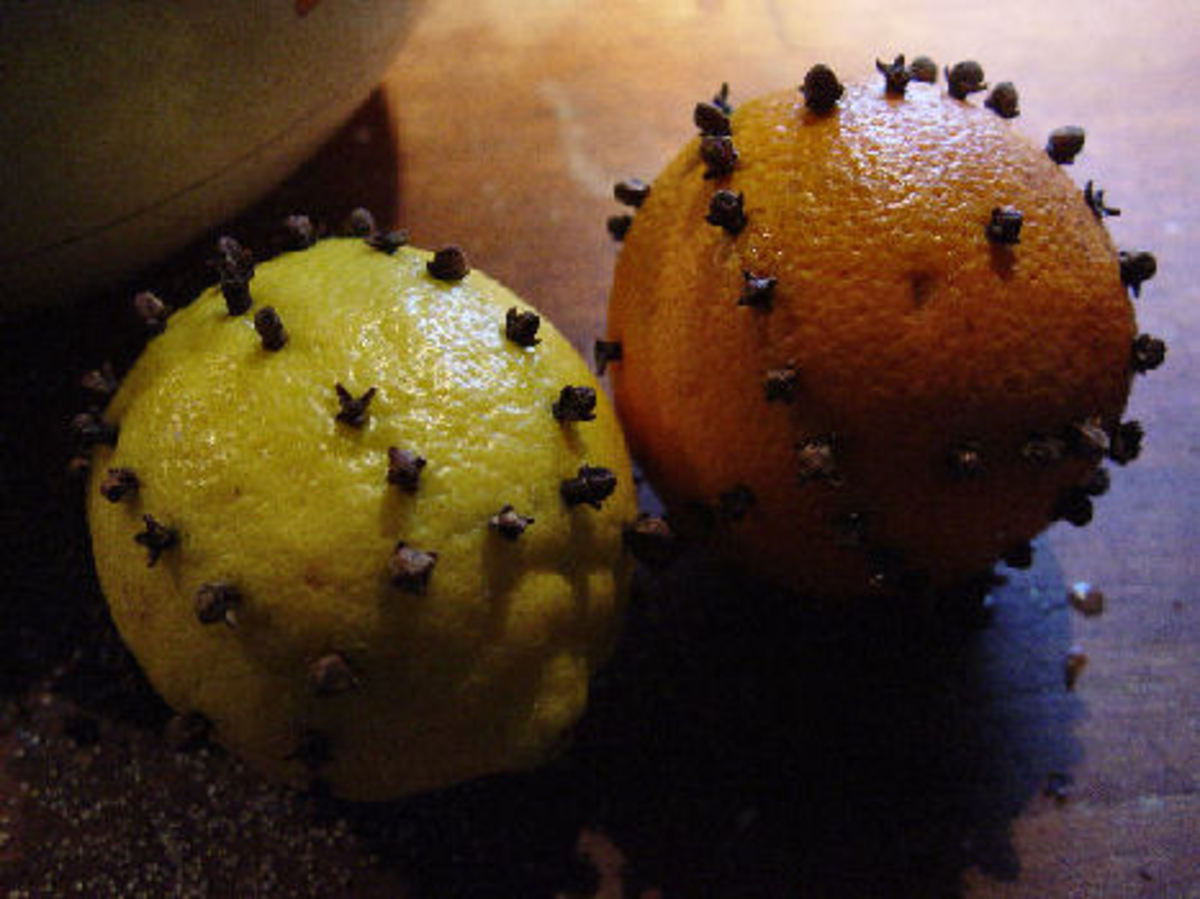 Orange and lemon with cloves