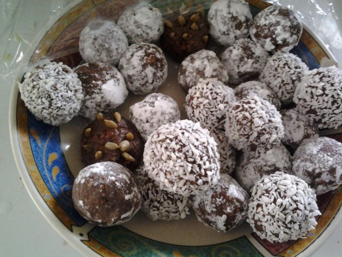 "My assorted ""chocolate snowballs"" with two dormant hedgehogs hiding among them!"