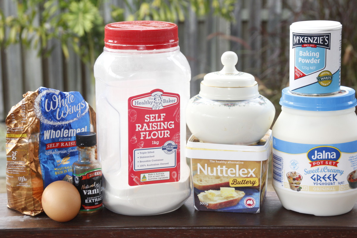 ingredients for healthy pancakes