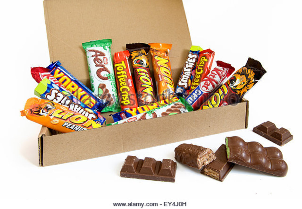 Range of Nestle Chocolate Bars