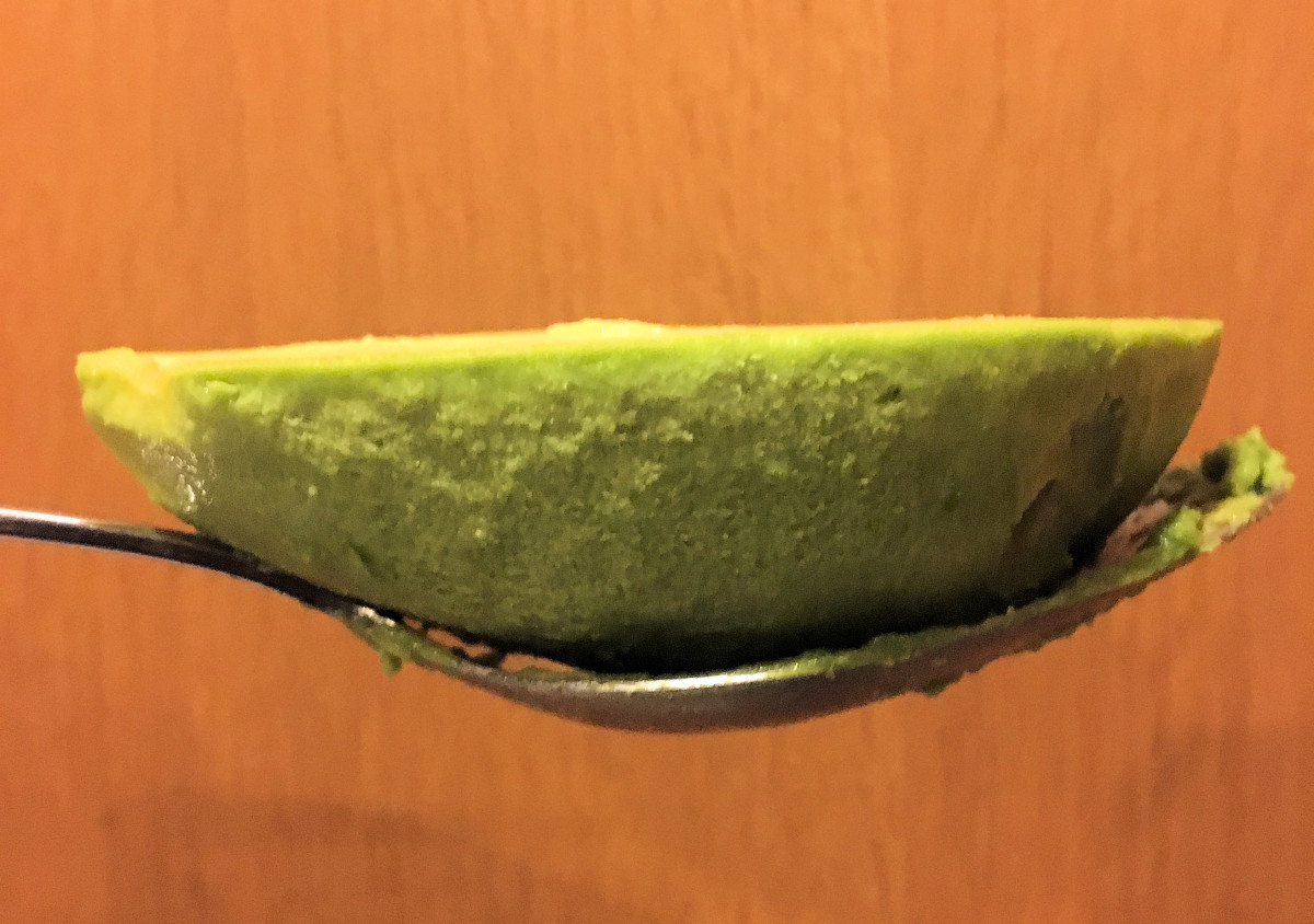 Avocado flesh removed from skin