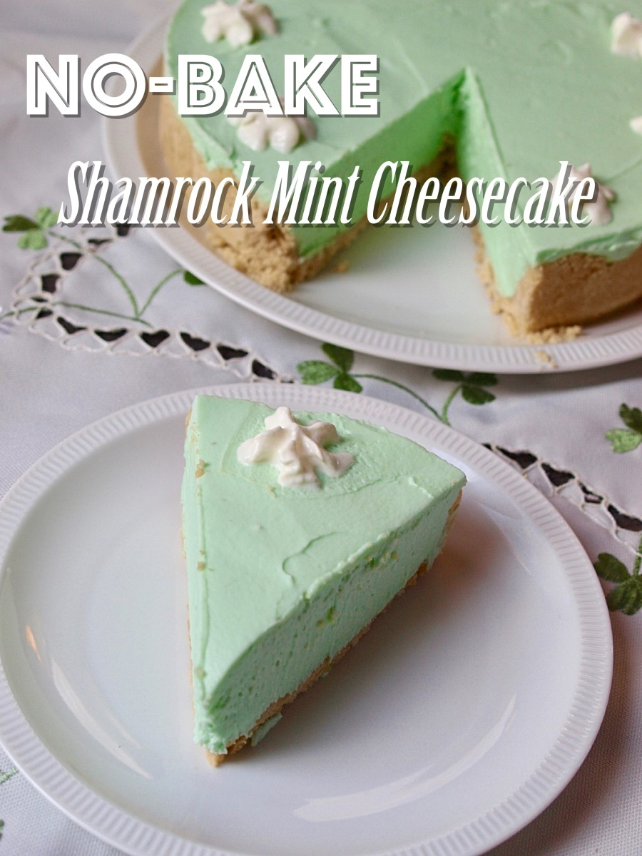No-Bake Shamrock Mint Cheesecake Recipe