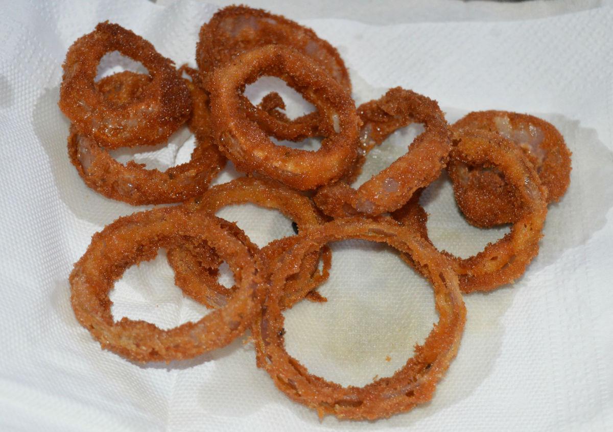 Crispy onion rings