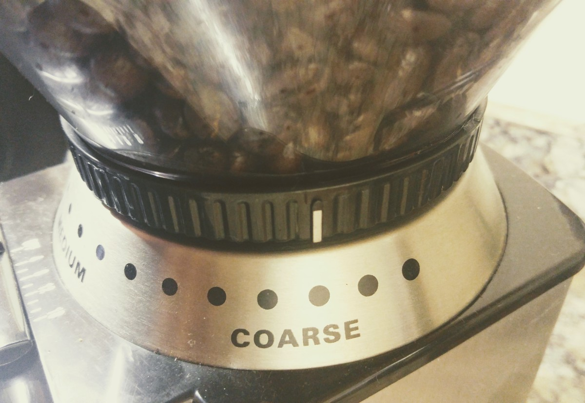Use the coarse setting on your Burr grinder for best results.