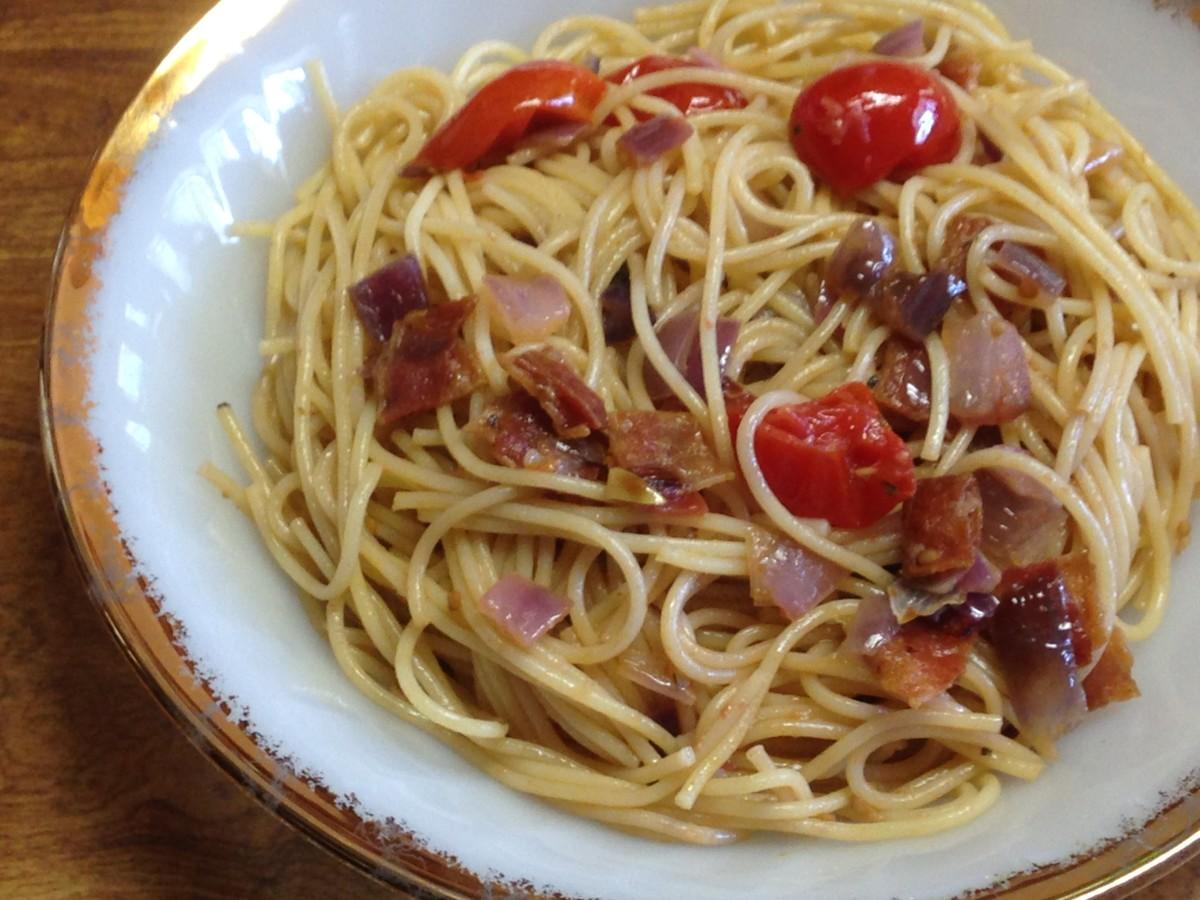 Yummy Bacon and Tomato Pasta