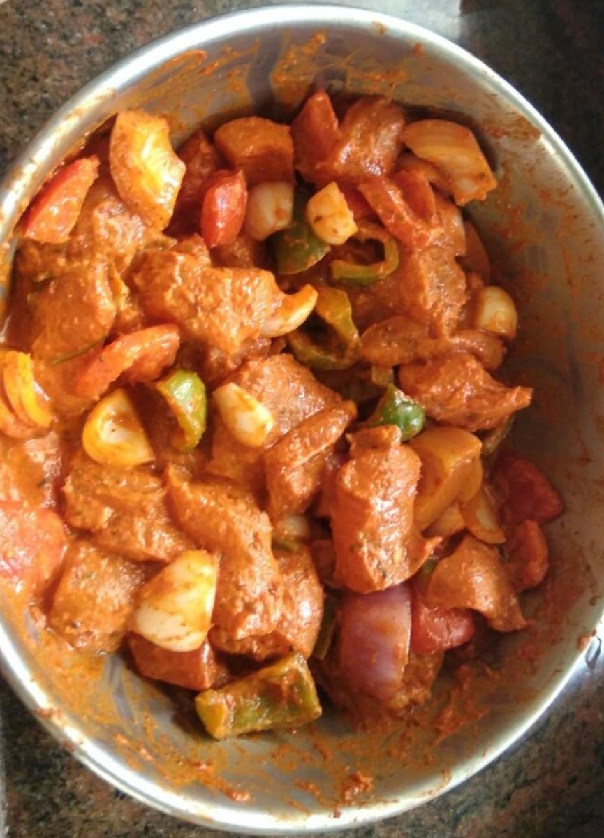 Preparing the marinade