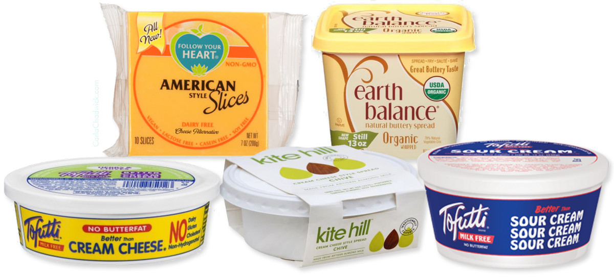 There are vegan cheese and butter substitutes available.