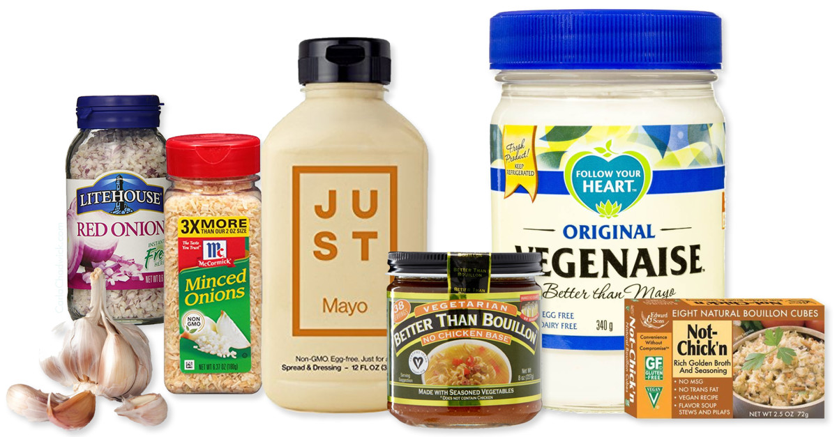 Some recommended condiments, flavorings, and spices.