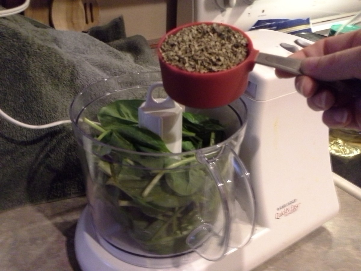 Step Six: Add your basil to the mix