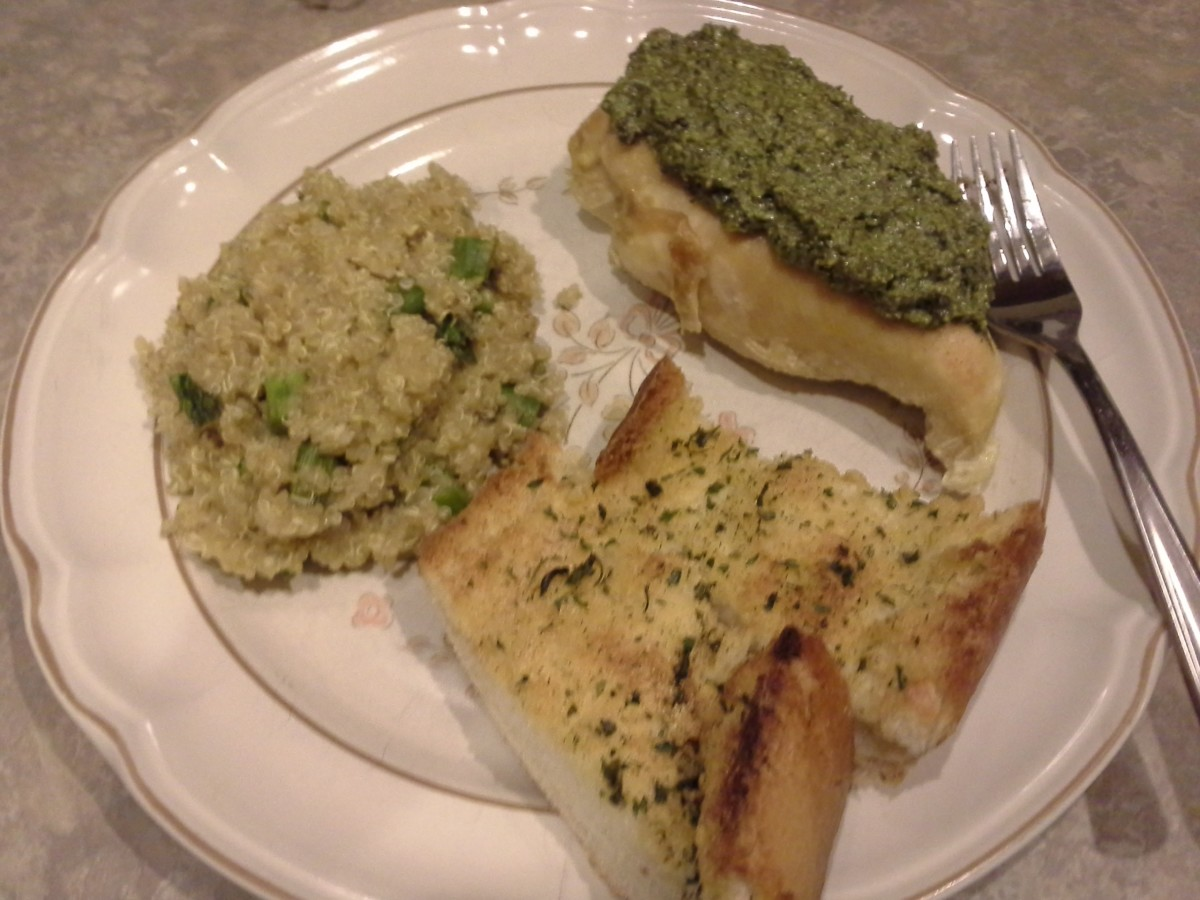 We served ours with garlic bread and quinoa with asparagus.