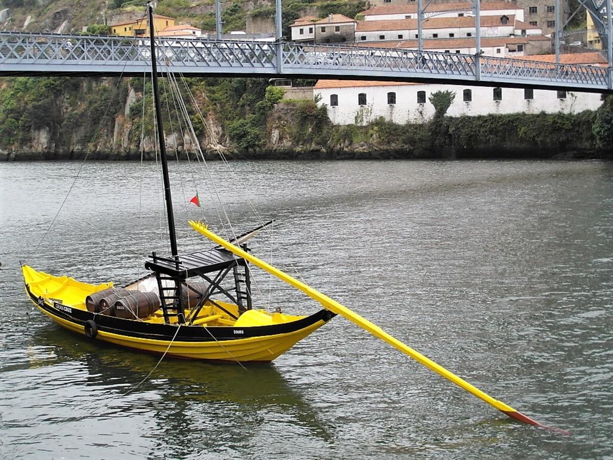 Flat-bottomed boat.