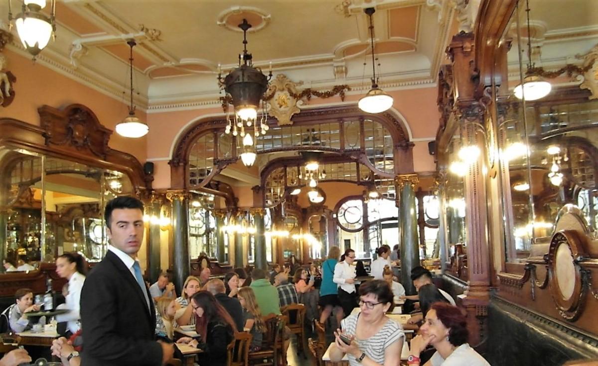 Interior of Cafe Majestic, Porto.