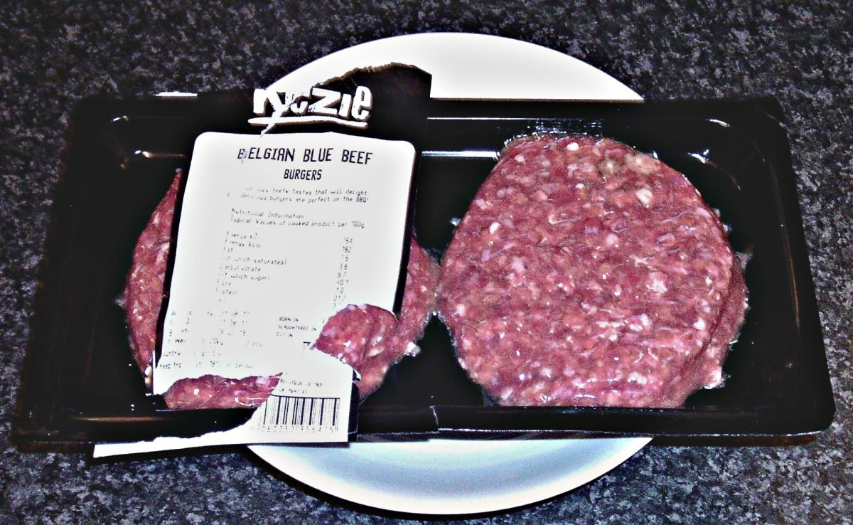 Belgian blue beef burgers