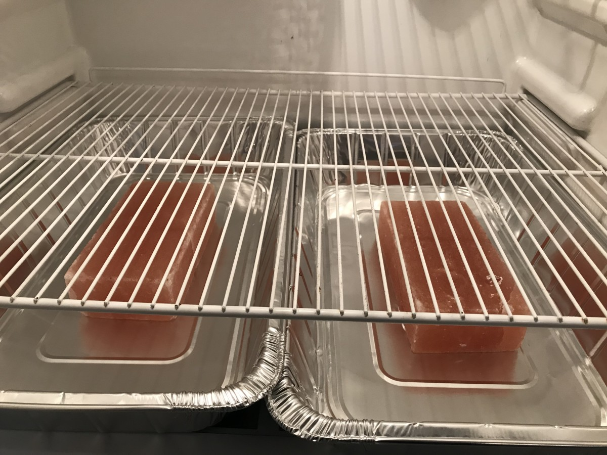 Salt in trays