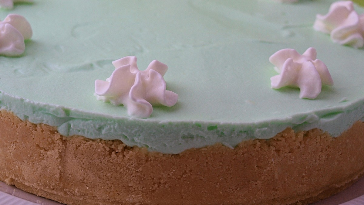 Use a springform pan for cheesecakes get those sharp smooth sides that give a nice finished appearance.