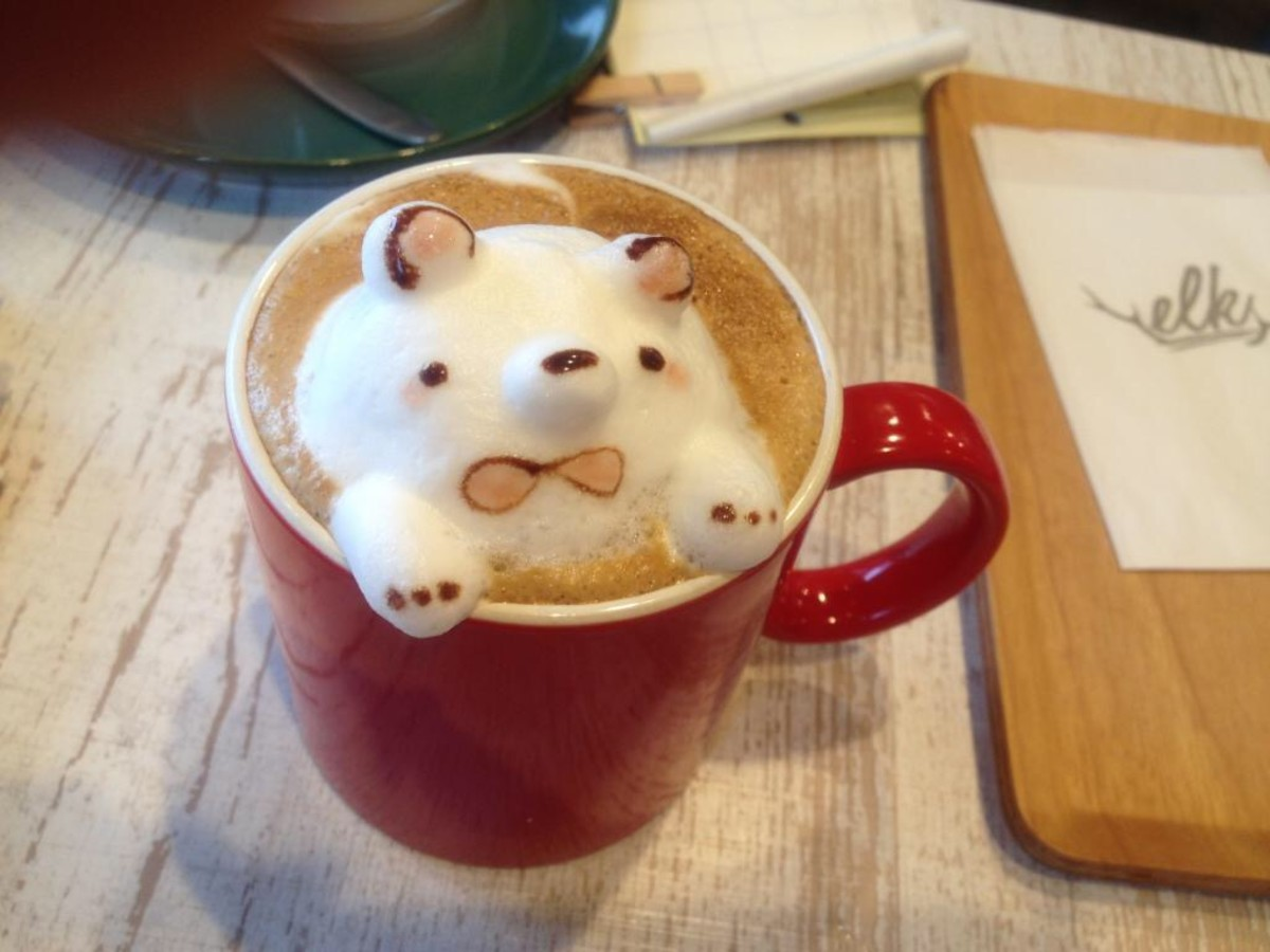 This 3D café latte is so kawaii that it can also be considered insutabae.