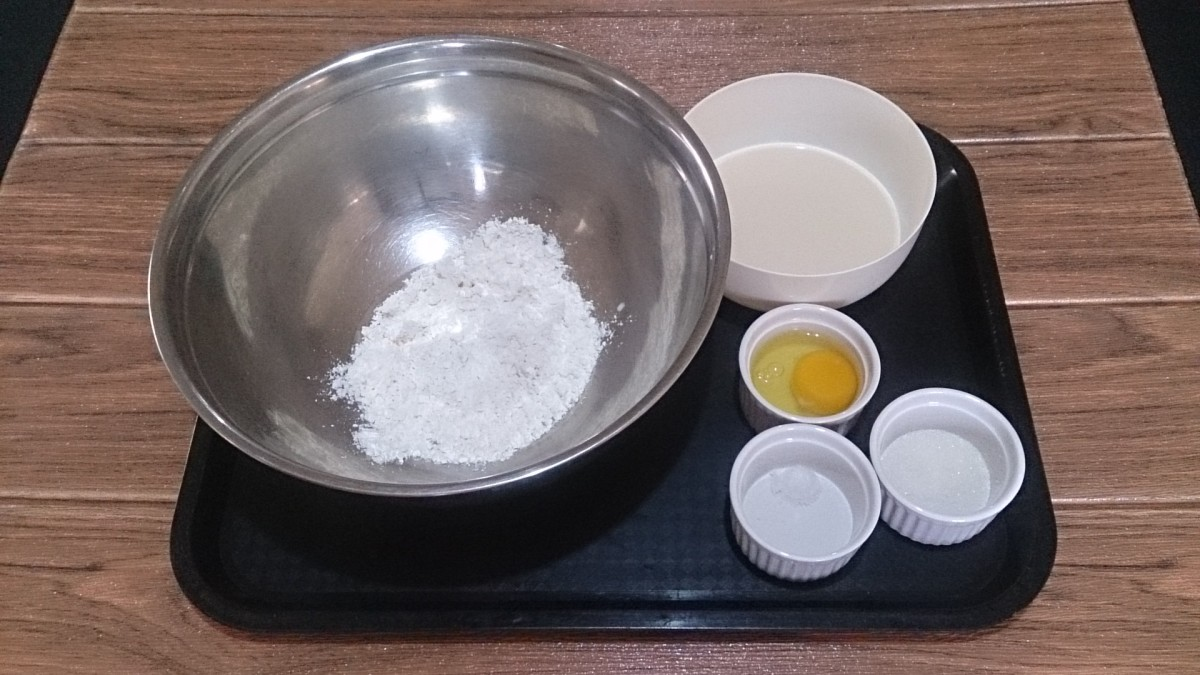 Five ingredients for homemade pancakes