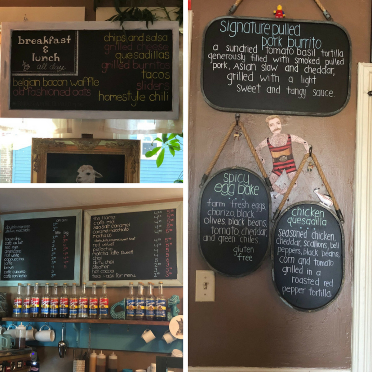 Cute menu chalkboards