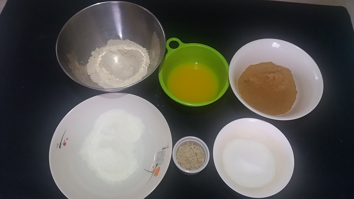 Here are the ingredients for making the polvoron.