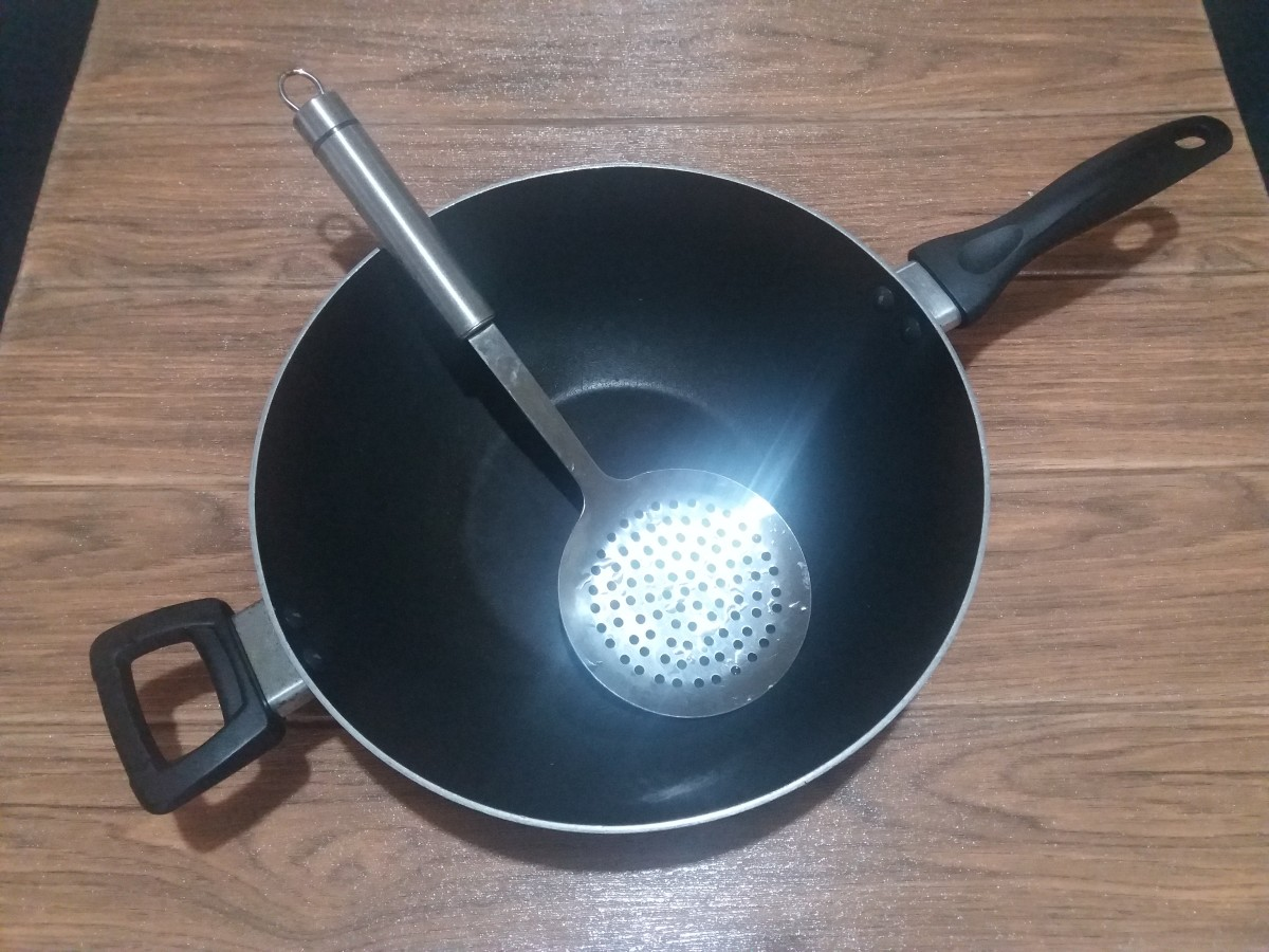 Utensils for Frying the Chicken Pops