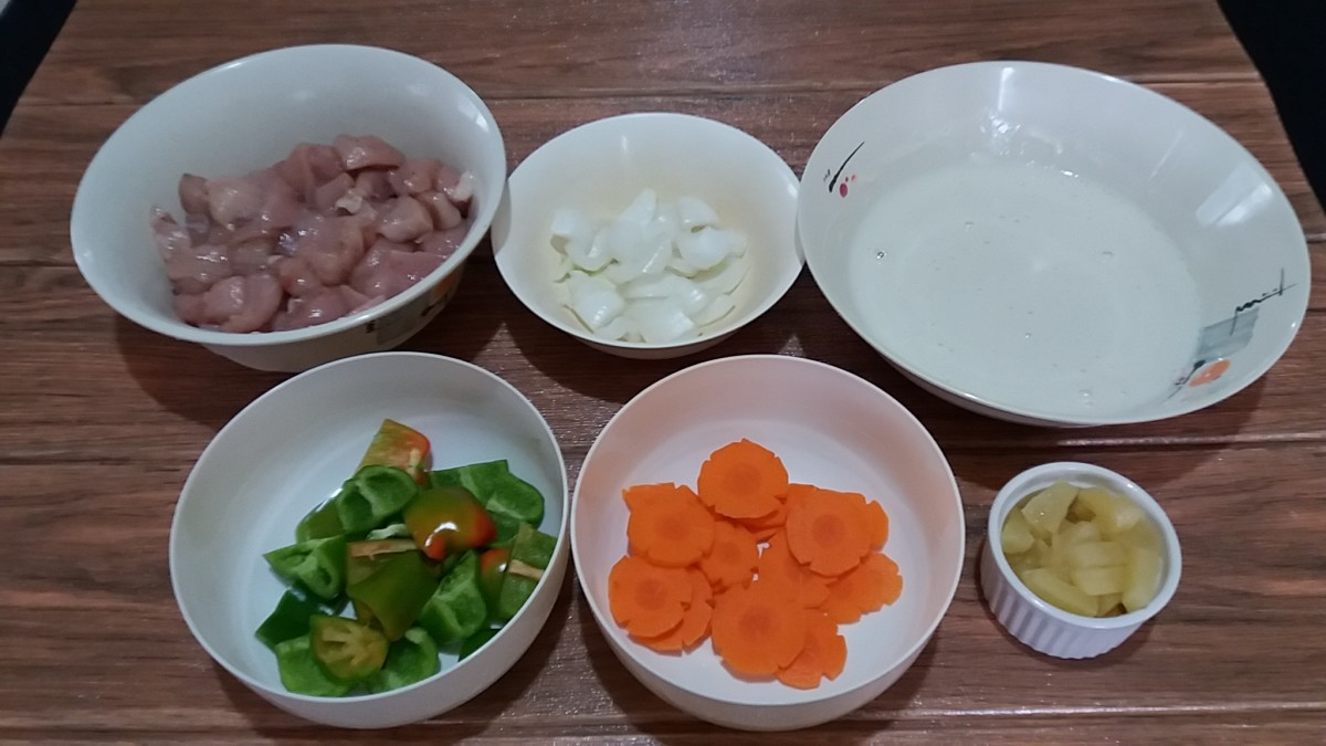 Ingredients for Sweet Chili Chicken Pops