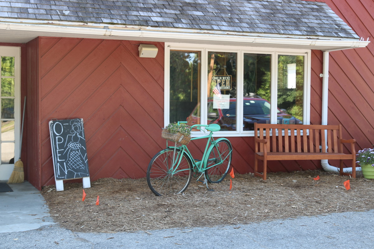 Brew Coffeehouse's front garden